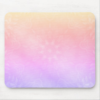 Pretty Cool Pastel Rainbow Mandala design Mouse Pad