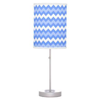 Pretty Cornflower Blue Chevron - Pick Your Color Table Lamps