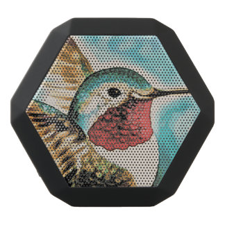 Pretty Costa's Hummingbird Black Bluetooth Speaker