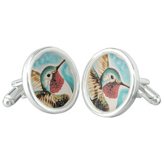 Pretty Costa's Hummingbird Cufflinks