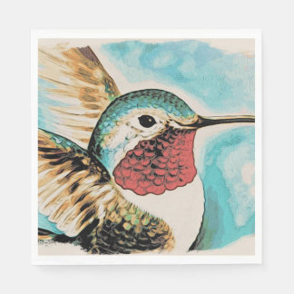 Pretty Costa's Hummingbird Disposable Napkins