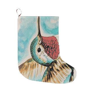 Pretty Costa's Hummingbird Large Christmas Stocking