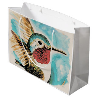Pretty Costa's Hummingbird Large Gift Bag