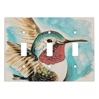 Pretty Costa's Hummingbird Light Switch Cover