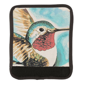 Pretty Costa's Hummingbird Luggage Handle Wrap