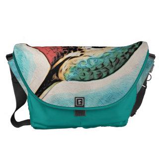 Pretty Costa's Hummingbird Messenger Bag