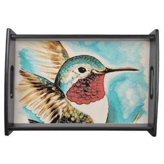 Pretty Costa's Hummingbird Serving Tray