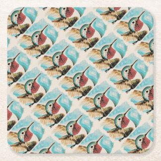 Pretty Costa's Hummingbird Square Paper Coaster