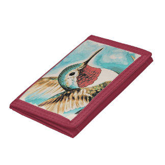 Pretty Costa's Hummingbird Tri-fold Wallet