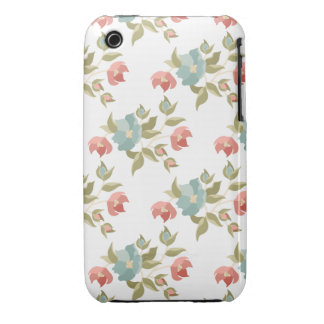 Pretty Cottage Floral iPhone 3 Case-Mate Case