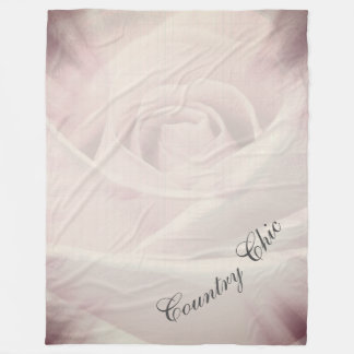 Pretty Country Chic design Fleece Blanket