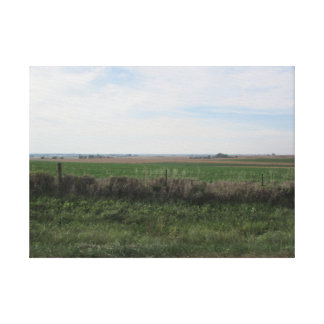 Pretty Country View of Farmland in the Midwest Canvas Print