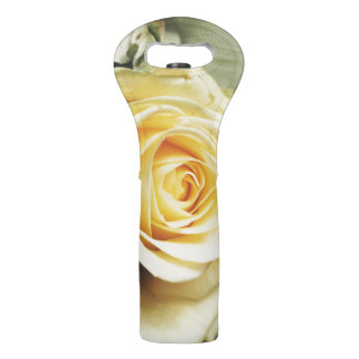 Pretty Cream Colored Rose Wine Bag