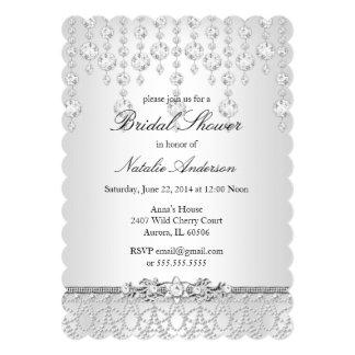 Pretty Crystal Bridal Shower Invitation