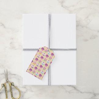 Pretty Cupcake Pattern Gift Tags