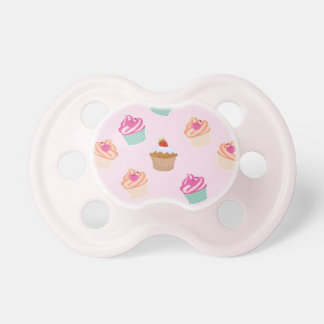Pretty Cupcakes In Pink Baby Pacifiers