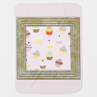Pretty Cupcakes Pattern Baby Blanket