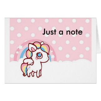 Pretty  customizable note card