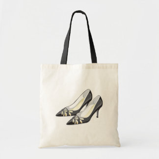 Pretty Cut Out Black High Heels Tote Bag
