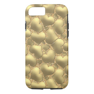 Pretty Cute Chic Modern Retro Girly Hearts Pattern iPhone 8/7 Case