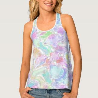 Pretty Cute Colorful Futuristic Swirls Pattern Tank Top