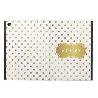 Pretty Cute Gold Glitter Polka Dots Monogram Name Powis iPad Air 2 Case