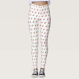 Pretty Cute Retro Vintage Pinup Cherries Leggings