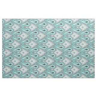 Pretty Cute Trendy Turquoise Ikat Tribal Pattern Fabric