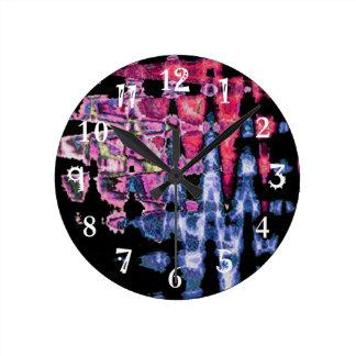 Pretty Cute water colors pattern Round Clock