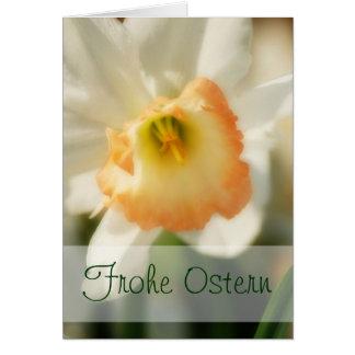 """Pretty Daffodil """"Frohe Ostern"""" Card"""
