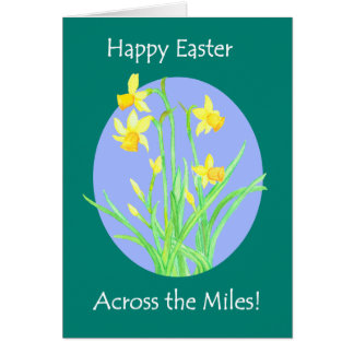 Pretty Daffodils 'Across the Miles' Easter Card