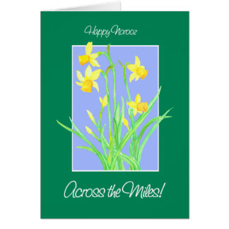 Pretty Daffodils 'Across the Miles' Norooz Card
