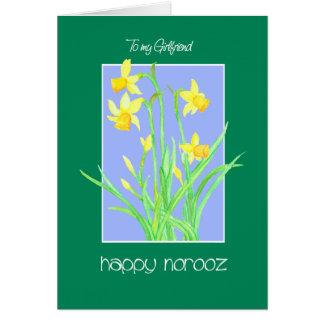 Pretty Daffodils for Girlfriend Norooz Card
