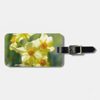 Pretty Daffodils, Narcissus 03.1 Bag Tag