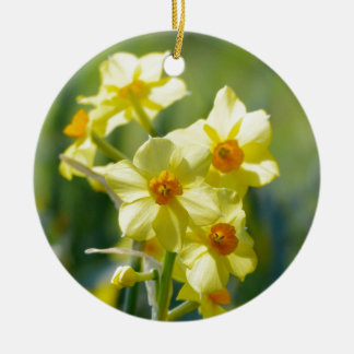 Pretty Daffodils, Narcissus 03.1 Ceramic Ornament
