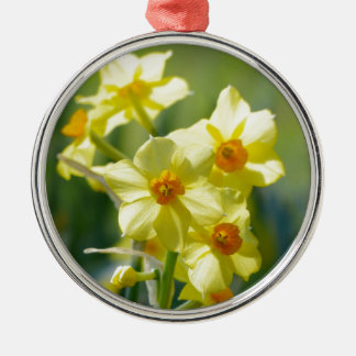 Pretty Daffodils, Narcissus 03.1 Metal Ornament