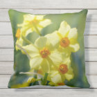 Pretty Daffodils, Narcissus 03.1 Throw Pillow