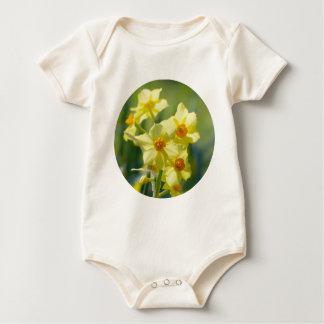 Pretty Daffodils, Narcissus 03.2_rd Baby Bodysuit