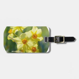 Pretty Daffodils, Narcissus 03.2_rd Bag Tag