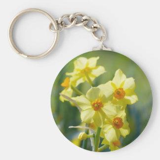Pretty Daffodils, Narcissus 03.2_rd Basic Round Button Keychain