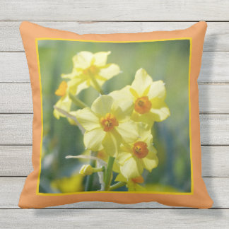 Pretty Daffodils, Narcissus 03.7 Outdoor Pillow