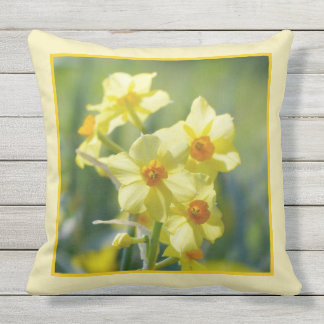 Pretty Daffodils, Narcissus 03.9 Throw Pillow