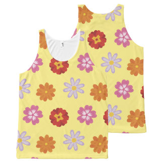 Pretty Daisies Floral Yellow Flower Pattern All-Over-Print Tank Top