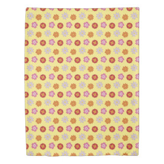 Pretty Daisies Floral Yellow Flower Pattern Duvet Cover