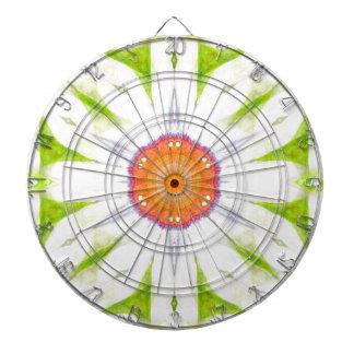 Pretty daisy design dartboard