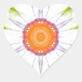 Pretty daisy design heart sticker