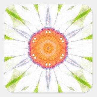 Pretty daisy design square sticker