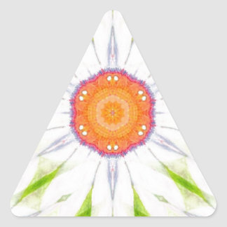 Pretty daisy design triangle sticker