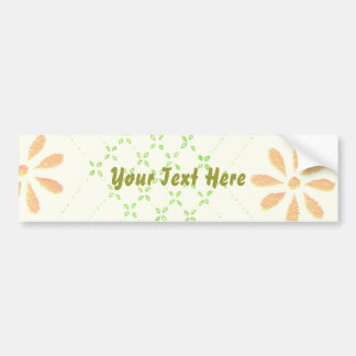 Pretty Daisy Flowers Bumper Sticker