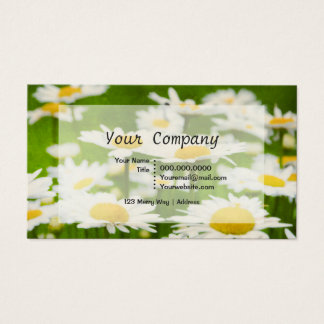 Pretty Daisy Flowers Business Cards